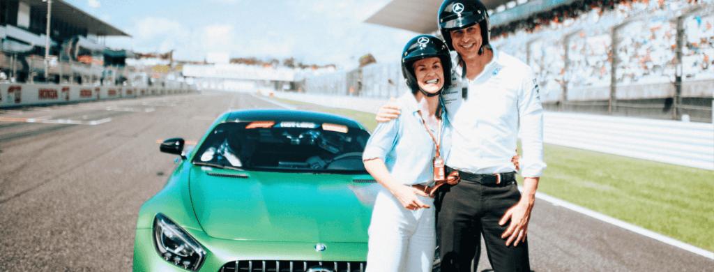 Interview de Susie et Toto Wolff